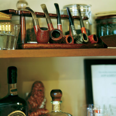 Decorative cigars in remodeled home office