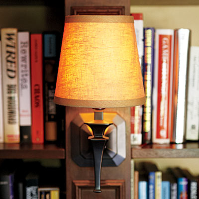 Sconce in remodeled home office