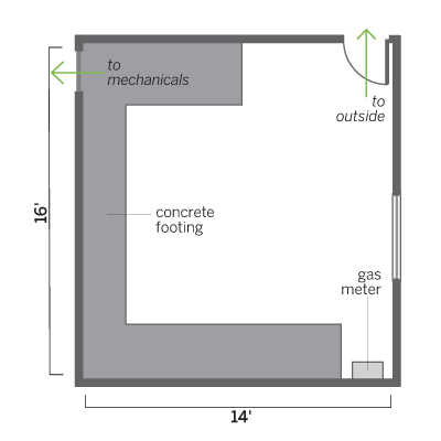 floor plan before remodel