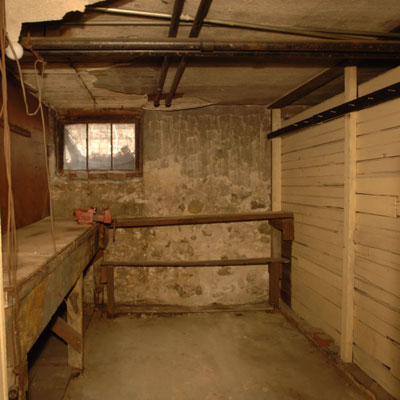 the East Boston basement before