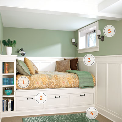 Live play twin cities read this before you finish your for Built in bedroom storage ideas