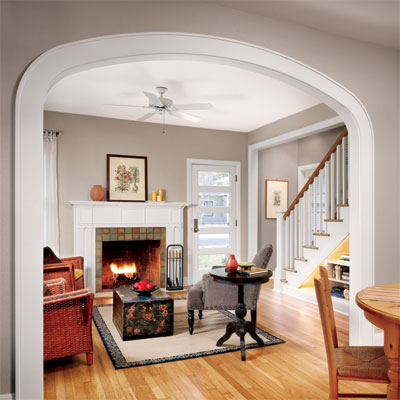arched passageway example of small scale big impact upgrade
