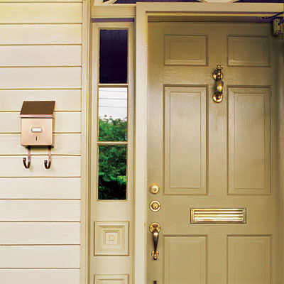 repaint front door casing as an example of Free or Low-Cost Fix-ups tips