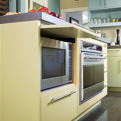 remodeled vintage kitchen with island