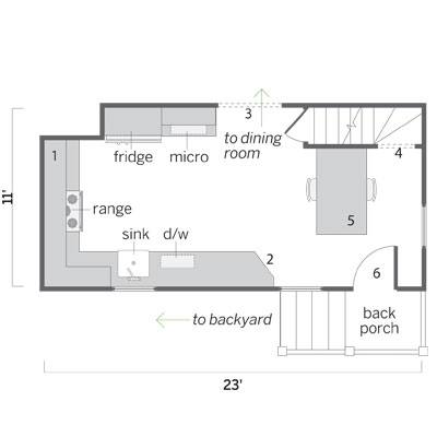 Nicolussi kitchen floor plan after the remodel