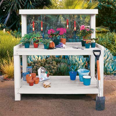 Build a Potting Bench for a great summer projects