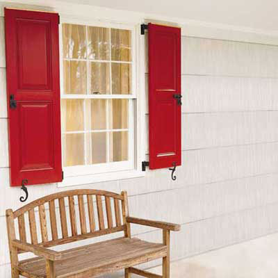 Hang Exterior Shutters for a great summer projects