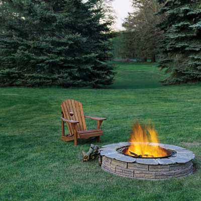 Gather Around a Fire Pit for a great summer projects