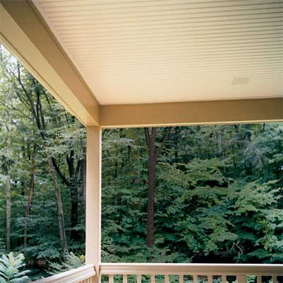 Install a Beadboard Porch Ceiling for a great summer projects