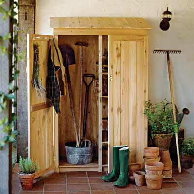 Give Your Garden Tools a Shed for a great summer project