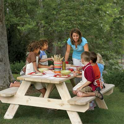 Dine on Your Own Picnic Table for a great summer project