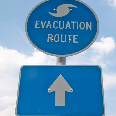 hurricane evacuation sign hurricane irene storm prep