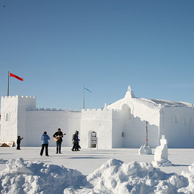 Canadian snow castle