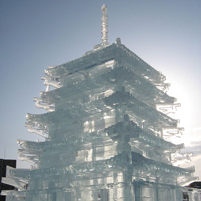 Japanese ice castle