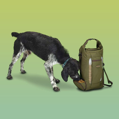 Travel bag for dog food and water