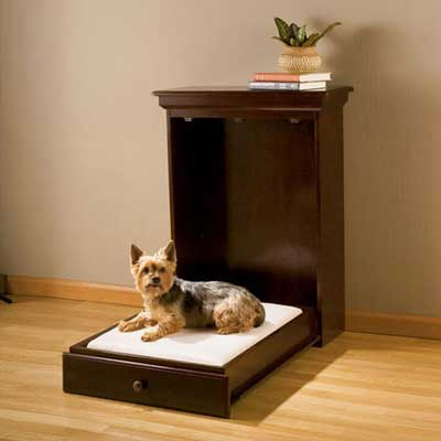 Small wooden murphy bed for pets