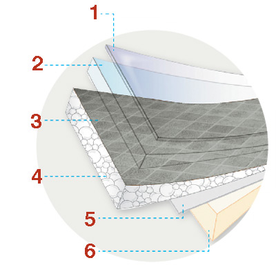 diagram of vinyl flooring