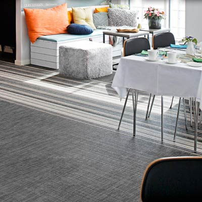 living room with woven vinyl floor from Bolon