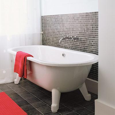 bathroom with vinyl flooring