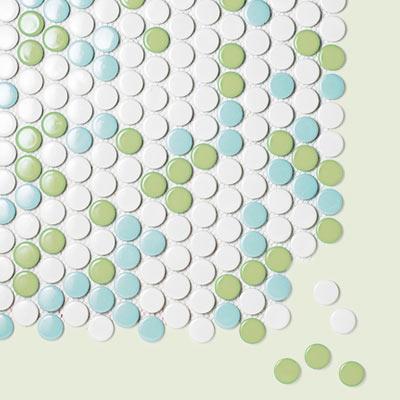 ceramic penny round tile