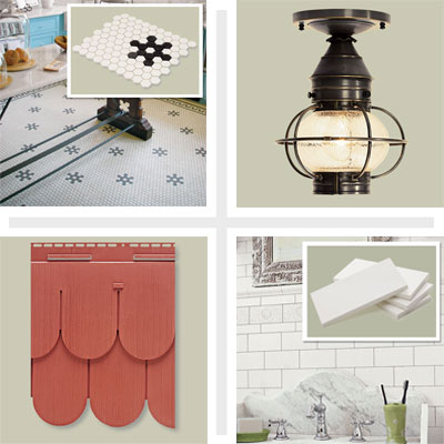 vintage look bathroom with subway tile