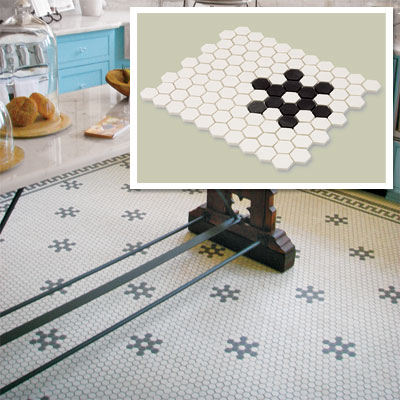 Hex Mosaic Floor Tile Splurge for vintage character restoration