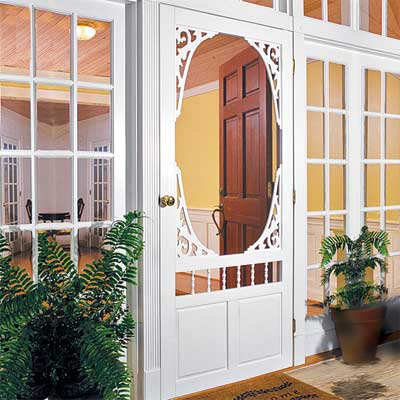 Victorian Screen Door  Splurge for vintage character restoration