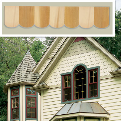 Fishscale Shingle Siding Splurge for vintage character restoration