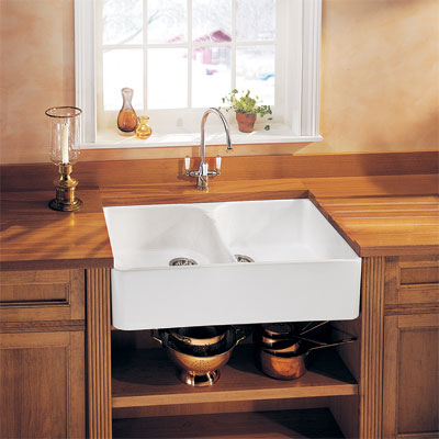 Farmhouse Sink Splurge  for vintage character restoration