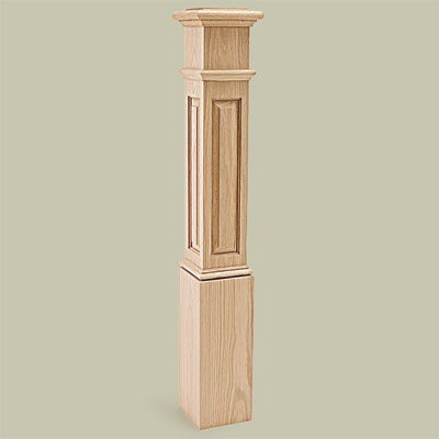 Box Staircase Newel Splurge for vintage character restoration