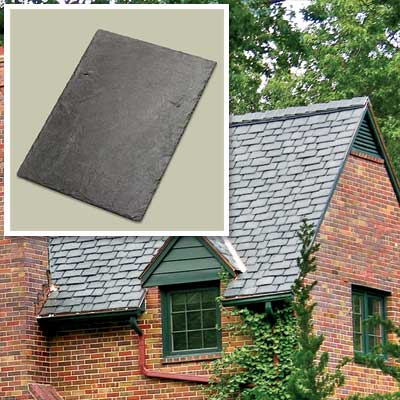 Slate Roof Tile Splurge for vintage character restoration