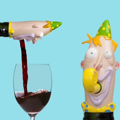 perpetual kid party guy wine topper