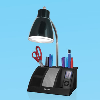 a combination desk lamp/organizer