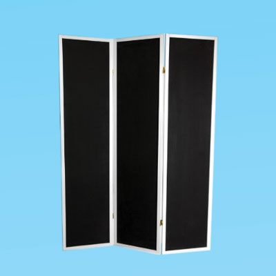 a chalkboard room divider screen