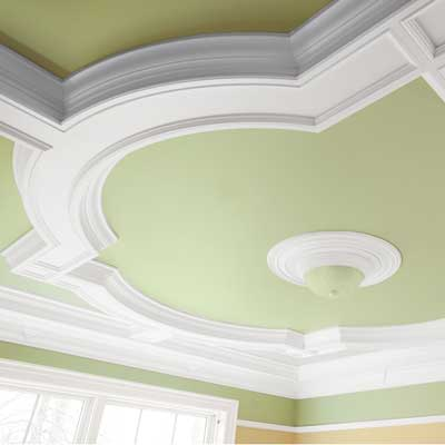 Nursery ceiling with new crown molding additions