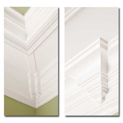 Nursery ceiling nooks with crown molding design