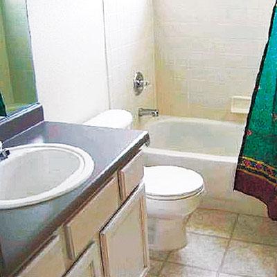 Old bathroom before remodel