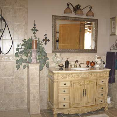 Roberta Evan's bathroom after remodel