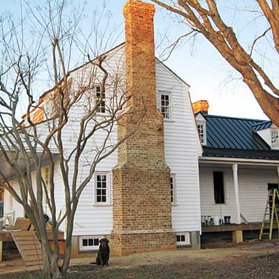 Exterior of David Bostic's farmhouse after restoration