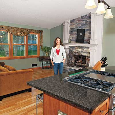 Christine Reed's remodeled living room