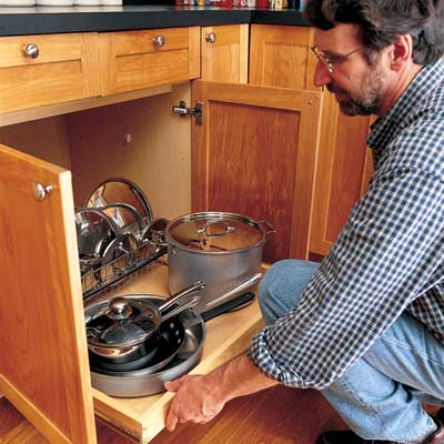 norm abrams using pull out kitchen cabinets