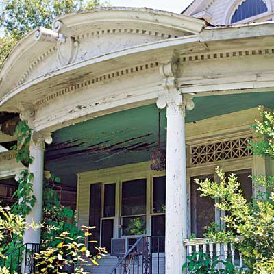 Front porch of this Mississippi Queen Anne