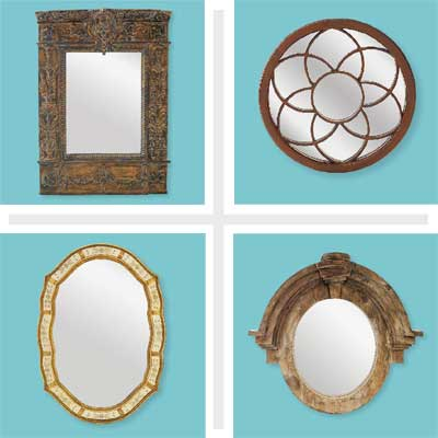 composite of three styles of architectural mirrors