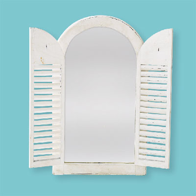 Weathered Window style of architectural mirrors