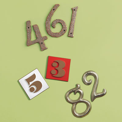 19th Century style, Mid-Century and Pre-War house numbers