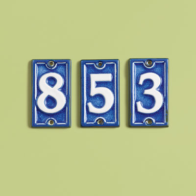 Bright Enamel Handsome House Numbers This Old House