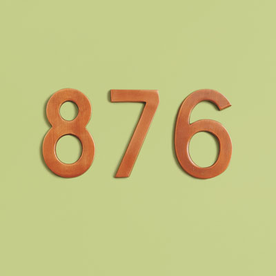 Mid-Century style brass house numbers