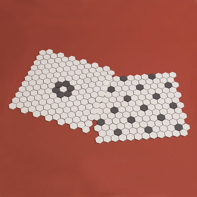 Patterned hex tile