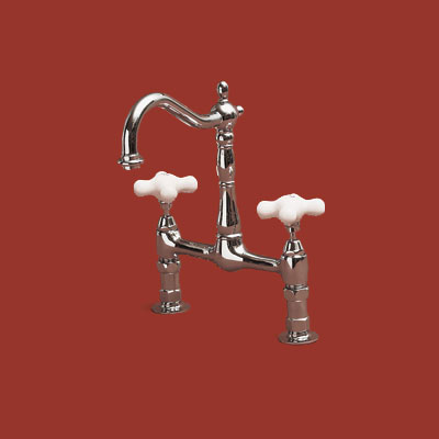 Shepherd's crook bridge faucet