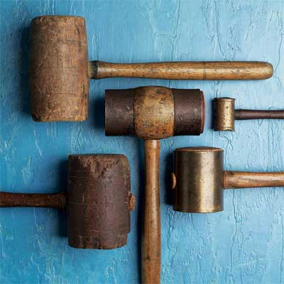 antique wood mallets